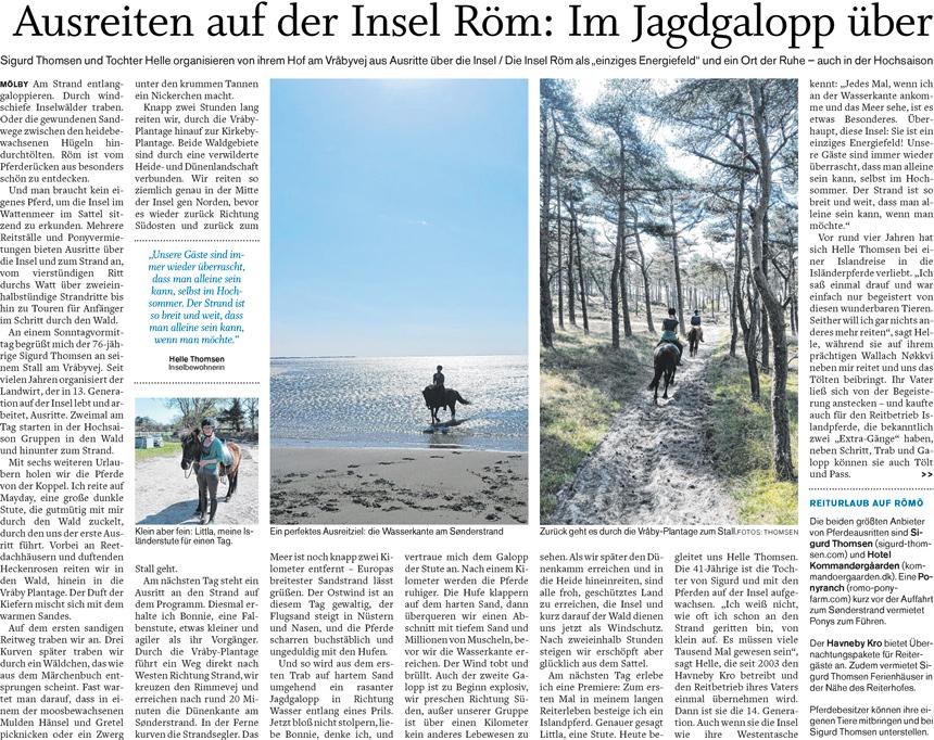 Ausreiten auf der Insel Röm: Im Jagdgalopp über den Strand und im Tölt durch die Heide schaukeln,  Teil 1 (Der Nordschlweswiger 17.06.2017)